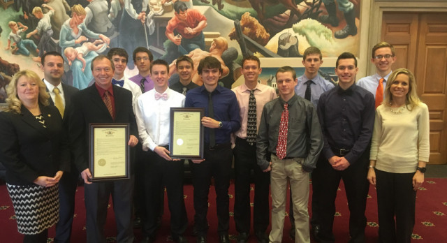Boys Cross Country Team Honored at the State Capitol