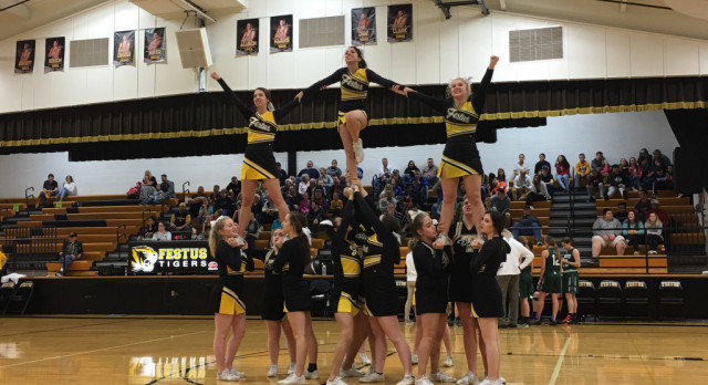 FHS Cheerleaders Support Conference Champions