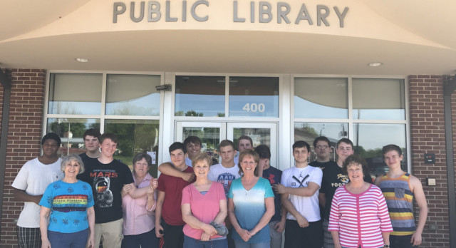 Festus Football Helps Public Library