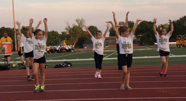 """""""Little Sisters"""" Help Dance Team at Monday's Football Games"""