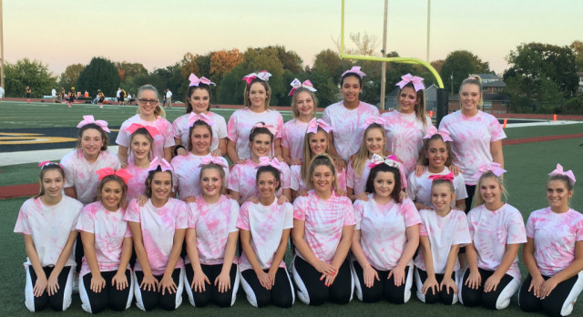 """Tiger Cheerleading Participates in """"Pink Out"""""""