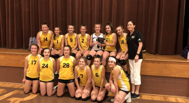 7th Grade Volleyball Places 2nd at Conference Tournament