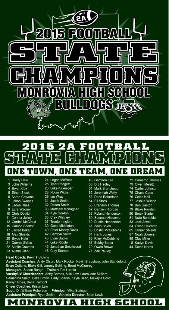 2015 Football State Champions Apparel! - Monrovia Bulldogs - Monrovia ...