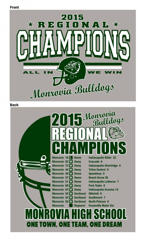 2015 IHSAA Football Regional Championship Apparel! - Monrovia ...