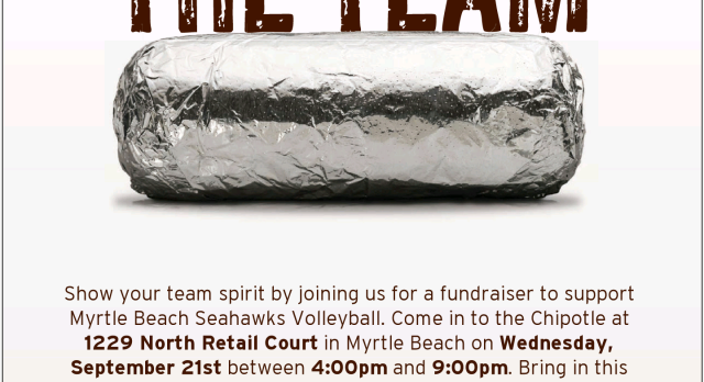 MBH Volleyball dinner this evening at Chipotle's