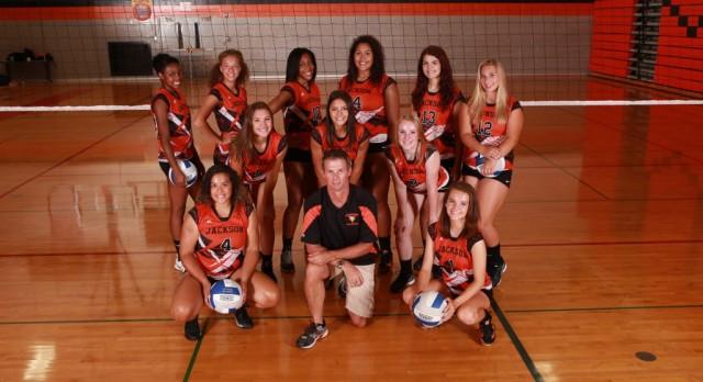Jackson High School Girls Varsity Volleyball beat Eastern High School 3-0