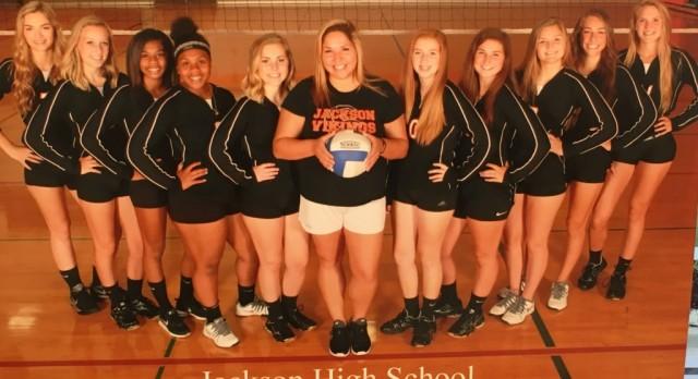 Jackson High School Girls Junior Varsity Volleyball beat Napoleon 2-0