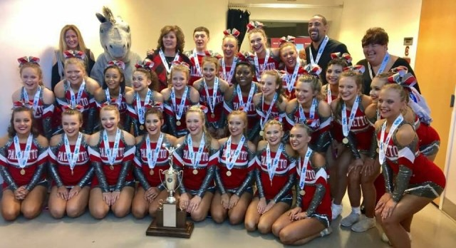 Varsity Competitive Cheerleaders for win the State 3A Title