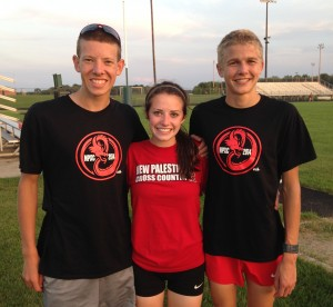 Riley Wilson, Marissa Crosby and Samuel Voelz finished in the top 20 at Pendleton Heights.
