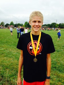 Samuel Voelz was 13th at the Marion Invitational.