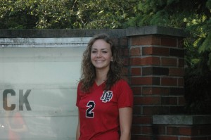 Senior Taylor Lawson had 12 digs in the Dragons' five-set win over Lutheran.