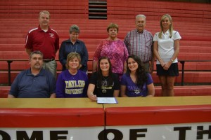 NPHS senior Haley Stratman signs her letter of intent to play basketball at Taylor University.