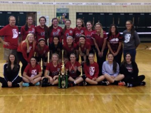 The Dragon volleyball team won the Greenwood Invitational on Saturday. Photo provided by Doug Lawson.