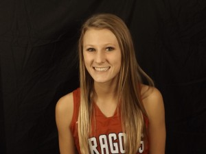 Freshman Haley Harrison had her first double-figure scoring game with 12 points in the Dragons' 60-29 win over Delta.