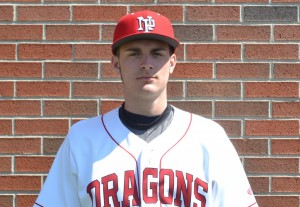 Keegan Watson threw a no-hitter for the Dragons and also drove in a key insurance run in a 6-1 HHC title-clinching victory.