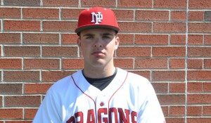 Tyler Martin drove in nine runs in the Dragons' doubleheader sweep.