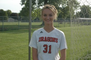 Corrin Neese scored a goal in the Dragons' victory over Shelbyville.
