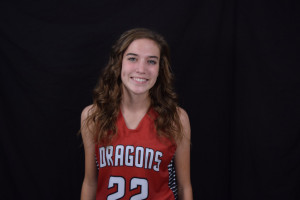 Megan Jolly scored eight points for the Dragons.