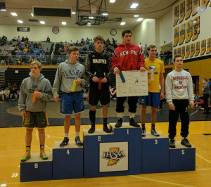 Alec White is crowned a sectional champion at 126.