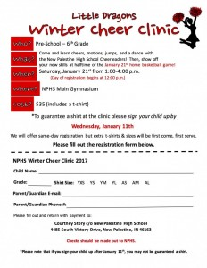 Winter Cheer Clinic Flyer