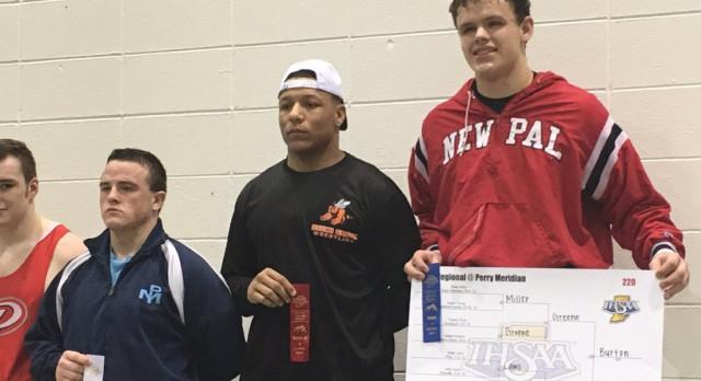 White, Burton win wrestling regional titles