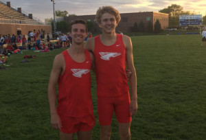 Caleb Eagleson and Sam Voelz both set school records Monday.