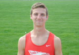 Caleb Eagleson won the 1600 at the Lightning Bolt Relays.