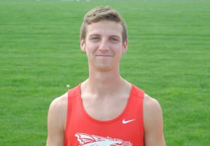 Caleb Eagleson tied the school 3200 meters record Monday.
