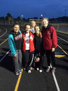 The Dragons 4x100 relay of Kylie Dhonau, Olivia McKilligin, Grace Shanahan and Jordan Reid won the HHC title.