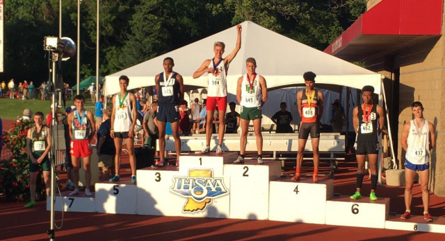 Voelz wins state title, relays finish 2nd