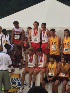 The Dragons' state runner-up 4x400 team.
