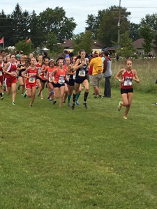 The start of the girls race at the Marion Invitational.