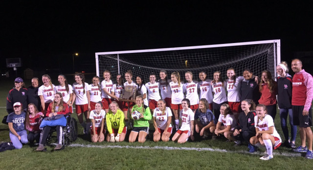 Girls soccer wins sectional title