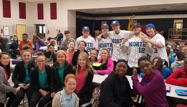 NF Baseball visits Crosby and Smith Elementary Schools