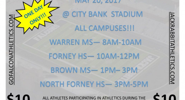 Athletic Physicals Flyer