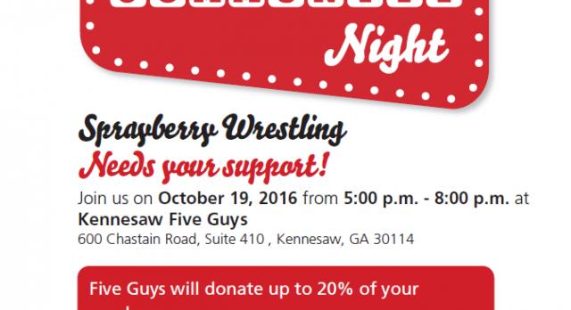 Wrestling Fundraiser @ Five Guys-Kennesaw