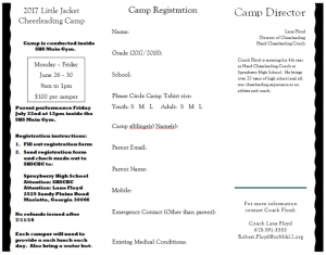Mini Camp Registration