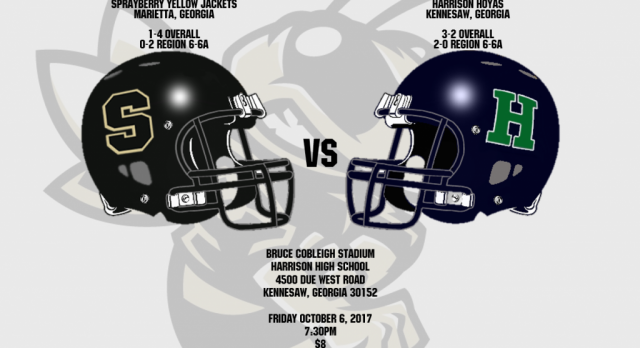 Varsity Football @ Harrison – 10/6/2017 @ 7:30pm