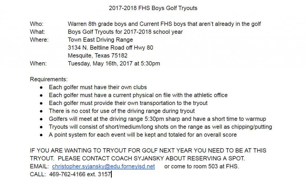 tryout 17 to 18