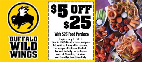 Buffalo tiger's coupon