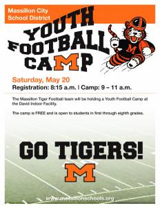 2017 Football Camp Flyer
