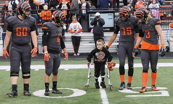 Franklin second-grader steals hearts of toughest Tigers