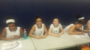 Devin and Alyssa waiting to sign autographs