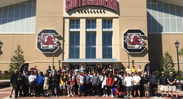 Varsity football attends USC camp