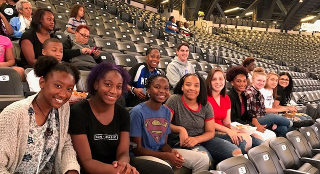 Lady Knights attend Atlanta Dream game
