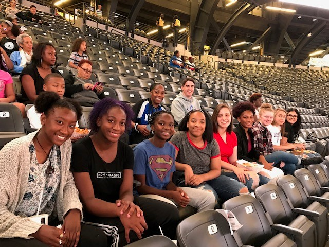 Lady Knights about to watch the Atlanta Dream v. Chicago Sky