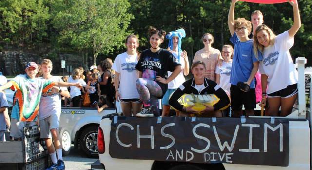 Centennial Swim & Dive at Homecoming!