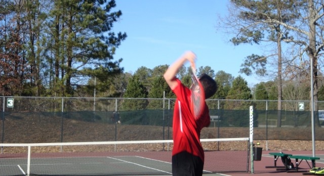 Boys Tennis Win