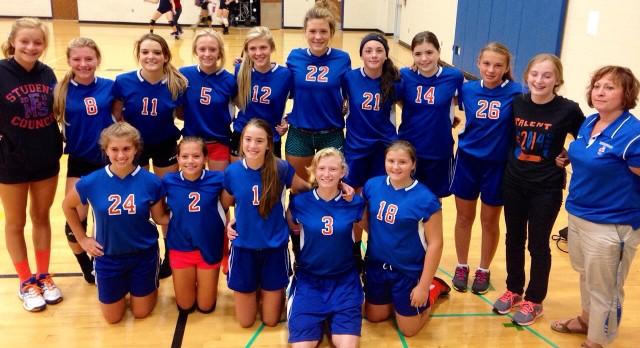 8th grade volleyball finishes season at Coloma Inv.