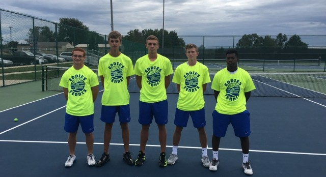 Eddies boys tennis senior night